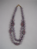 Double strand purple bead necklace