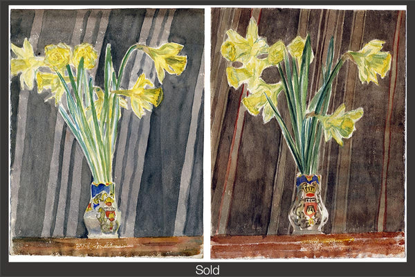 Daffodils, 1949, Watercolor on Paper, Sylvia Sleigh