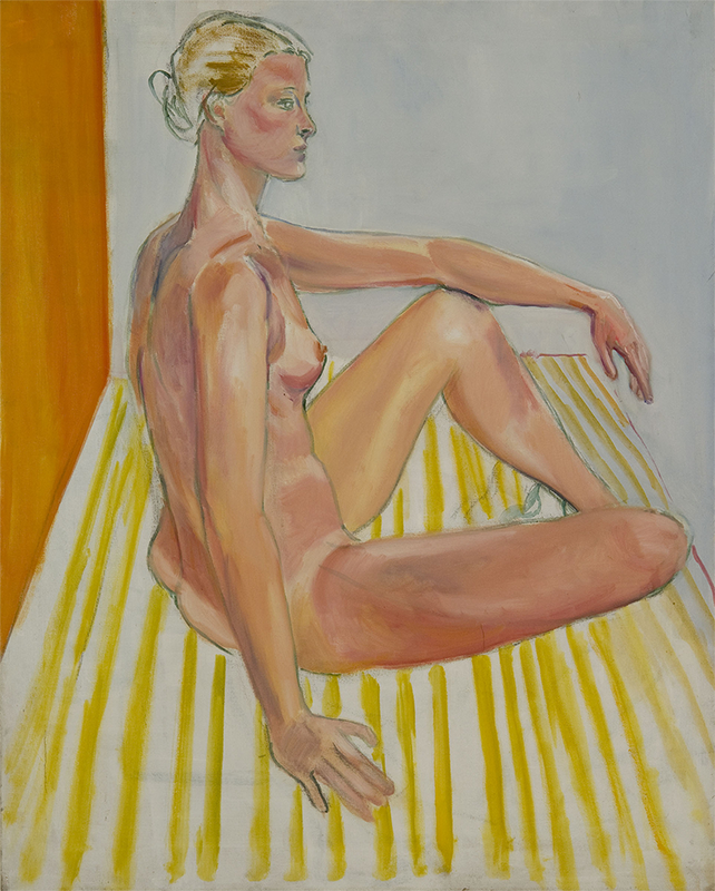Study at the New School: Donna Anderson, 1979, Oil on Canvas, Sylvia Sleigh