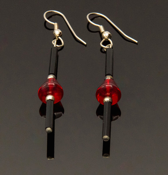 MICIA Creations Red and Black Earrings #103