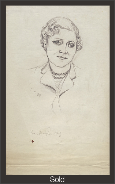 Enid Furlong, 1955, Graphite on Paper, 13 1/16 in x 8 in