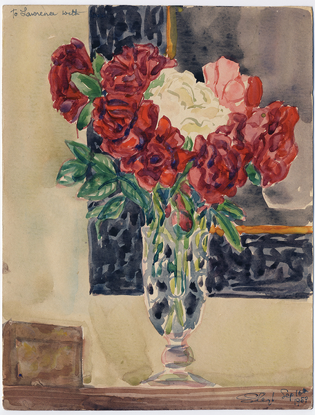 Flowers for Lawrence, 1953, Watercolor on Paper, 11 3/8 in x 8 3/4 in Sylvia Sleigh