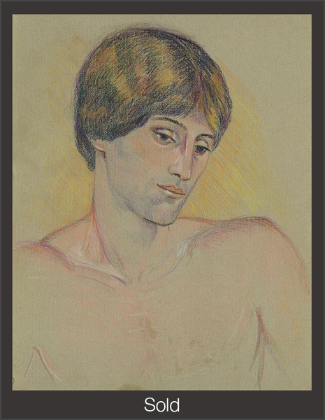 Mitchell Fredericks, c. 1981, Pastel on Laid Paper, 11 7/8 in x 9 1/2 in