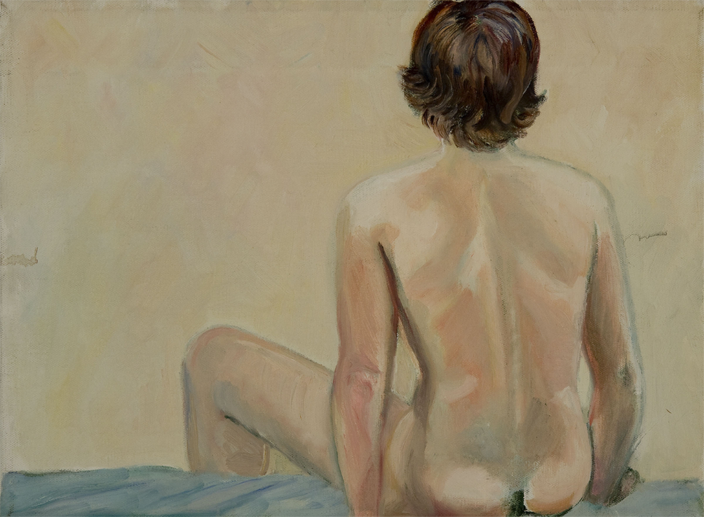 Nancy: Sketch at the New School, 1976, Oil on Canvas, Sylvia Sleigh