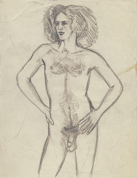 Paul Rosano, c. 1973 - 1976, Graphite on Paper, 10 7/8 in x 8 3/8 in