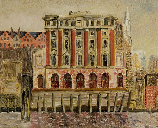 The Red Lion Brewery, 1950, Oil on Canvas, Sylvia Sleigh