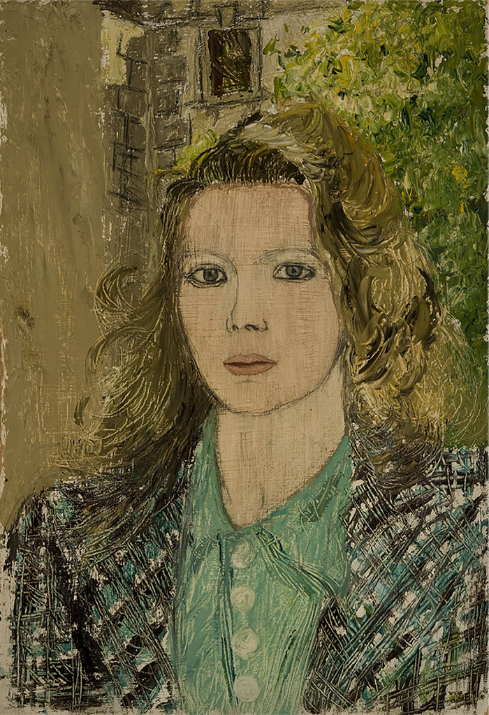 Self Portrait at Belsize Square, 1942, Oil on Board, Sylvia Sleigh