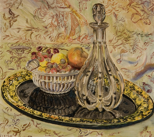 Still Life with Decanter, 1949, Oil on Canvas, Sylvia Sleigh