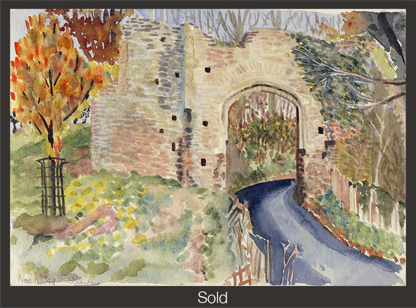 Winchelsea Gate, 1948, Watercolor on Paper, Sylvia Sleigh