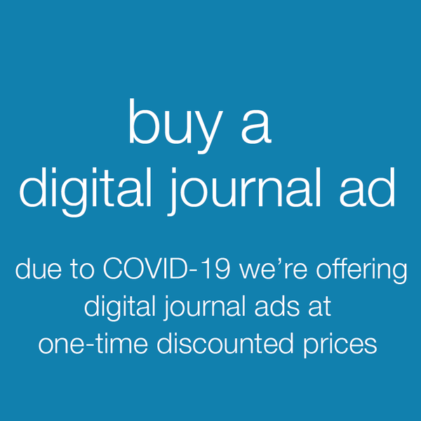 buy a digital journal ad. Due to COVID-19 we're offering digital journal ads at one-time discounted prices