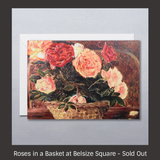 Roses in a Basket at Belsize Square - Sylvia Sleigh Greeting Card