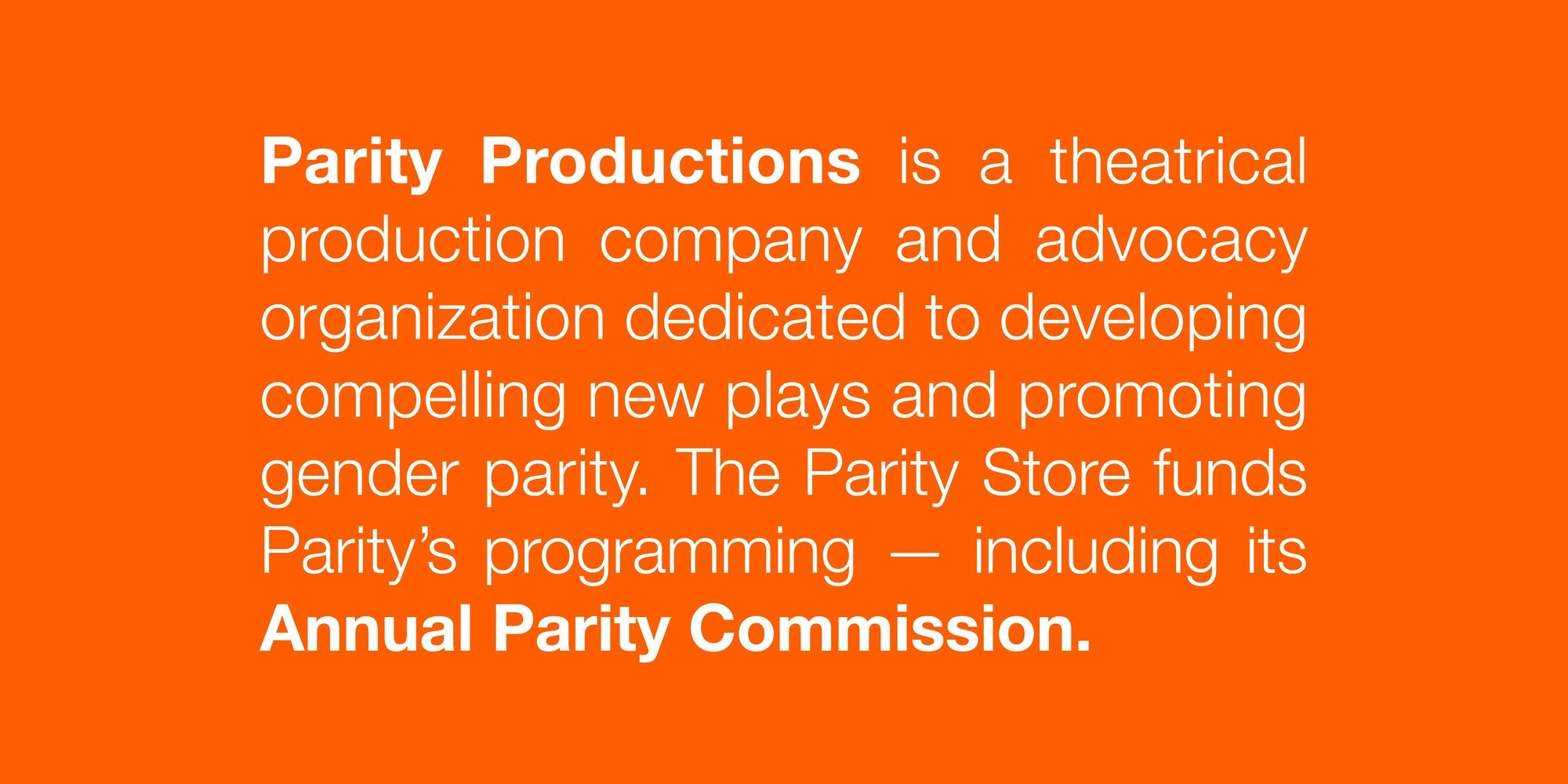 About Parity Productions