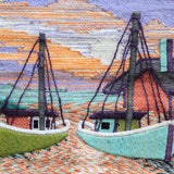 Boats & Houses Tapestry Wall Hanging (1067)