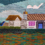 Cottage & Boat Tapestry Wall Hanging (1587)