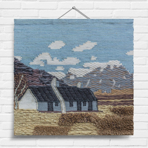 Mountainside Cottage Tapestry Wall Hanging (1924)