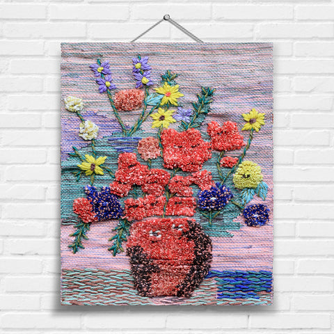 Flower Vase Tapestry Wall Hanging (1927)