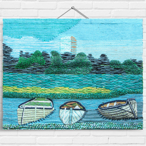 Boat & Castle Tapestry Wall Hanging (2038)