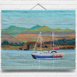 Boat & Lake Tapestry Wall Hanging (2039)