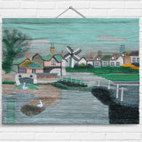 Village Pond Tapestry Wall Hanging (2040)