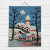 Snow Scene Tapestry Wall Hanging (6095)