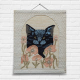 Black Cat Tapestry Wall Hanging (7036)