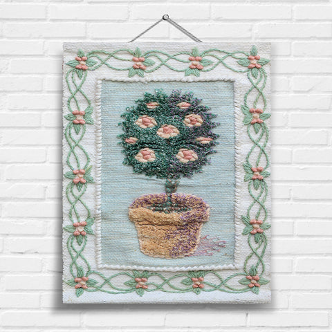 Topiary with Border Tapestry Wall Hanging (7050)
