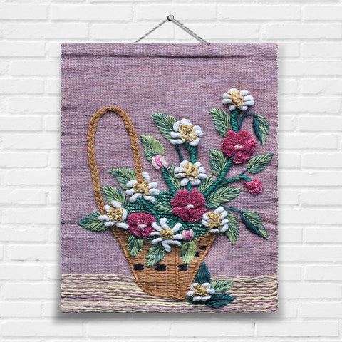 Flower Basket Tapestry Wall Hanging (7069)