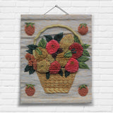 Basket of Fruit Tapestry Wall Hanging (7098)
