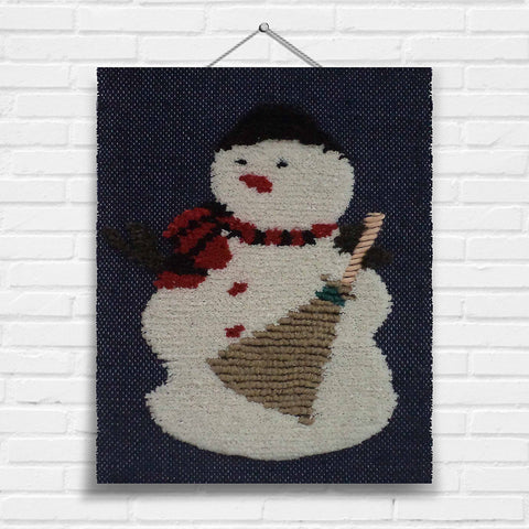 Snowman (Navy) Tapestry Wall Hanging (7160N)