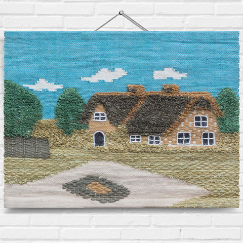 Traditional Thatch Cottage Tapestry Wall Hanging (7272)