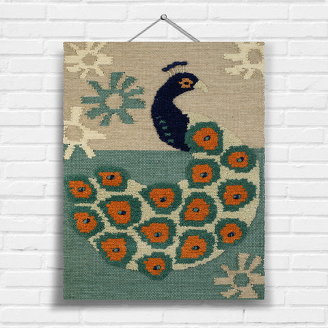 Peacock Tapestry Wall Hanging (8000)