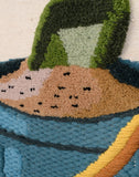 Bucket & Spade Tapestry Wall Hanging (8006) Close-up
