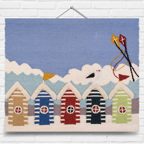 Beach Huts Tapestry Wall Hanging (8007)