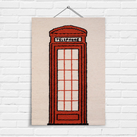 Telephone Box Tapestry Wall Hanging (8010)