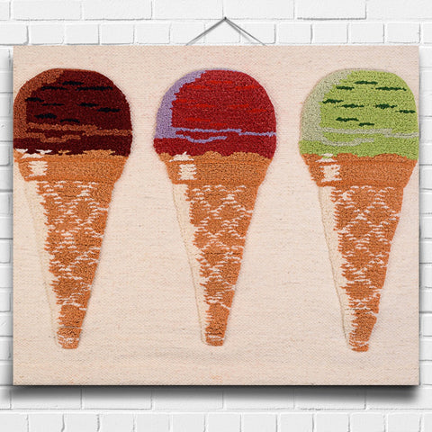 Ice-Cream Cones Tapestry Wall Hanging (8018)