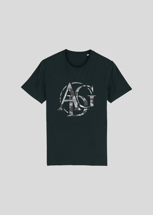 CAMOUFLAGE LOGO - T-SHIRT (Black/Grey)