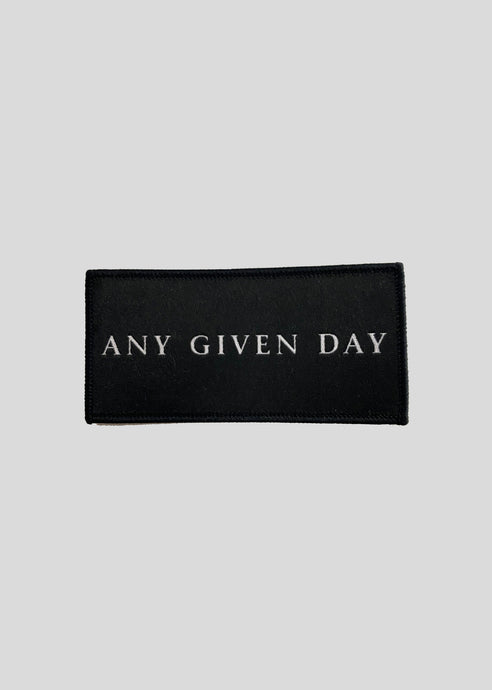 ANY GIVEN DAY - LOGO PATCH (10cm)
