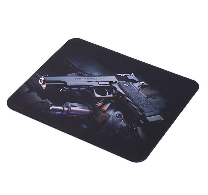 Gun Picture Anti-Slip Laptop PC Gaming Mice Pad Mat