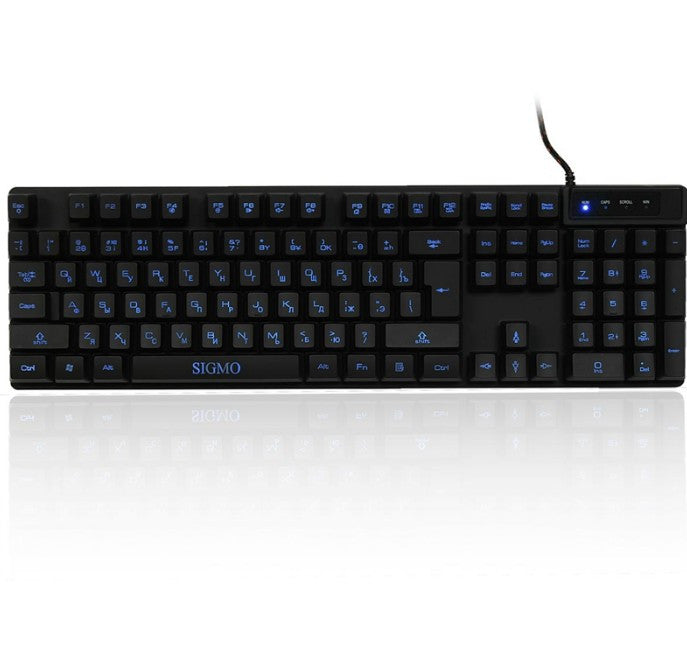 Russian USB Waterproof Backlight Gaming Keyboard