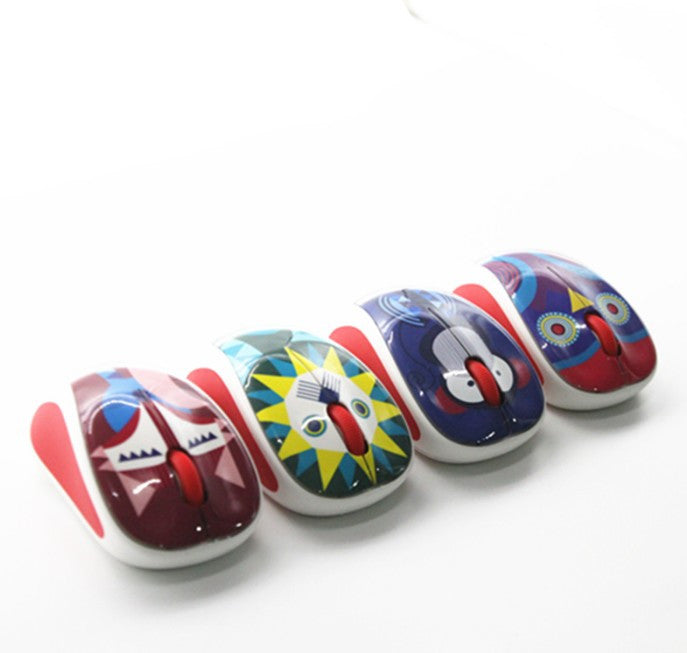 Cartoon Mini Silent Mute Noiseless Wireless Mouse