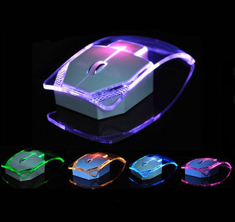 Transparent Wireless Mouse Silent Gamer