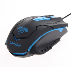 4 Button LED Optical USB Wired Gaming Mouse