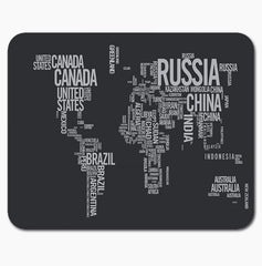 Vintage Cool World Map Mouse Pad