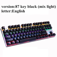 Metoo  Edition Mechanical Keyboard 87 keys Blue Switch Gaming Keyboards