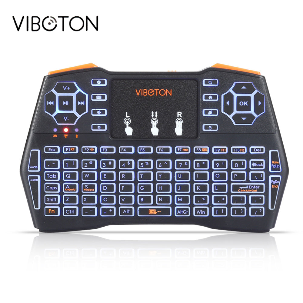 VIBOTON i8 Plus Handheld Backlight Mini Wireless Keyboard