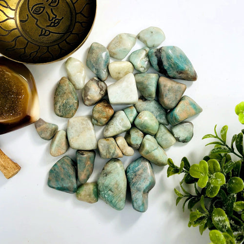 Amazonite Tumbled Stones - Gardening - Jewelry Making - Jewelry Craft Supplies - Decor