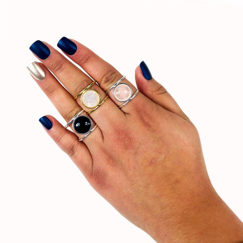 Gemstone Healing Stone Ring -Adjustable Band (RK137)