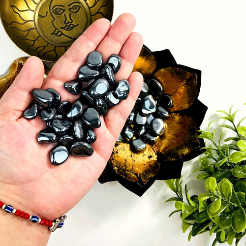 Hematite Tumbled Gemstones - 1lb or 1/2lb bags - Small Polished Stones