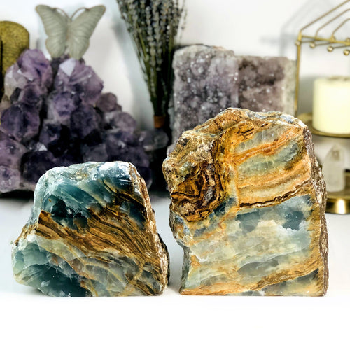 Blue Onyx Semi-Polished Cut Bases - By Weight (WRHS1-S1)