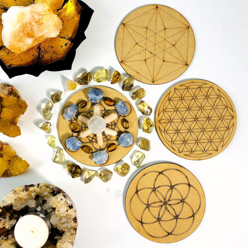 Crystal Grid Set  - Wooden Grid Set (BR-86)